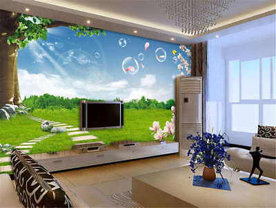 Lyric Concise Avenue 3D Full Wall Mural Photo Wallpaper Printing Home Kids Decor