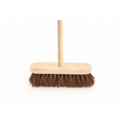 "12"" Bassine Hard Bristle Broom With Handle"