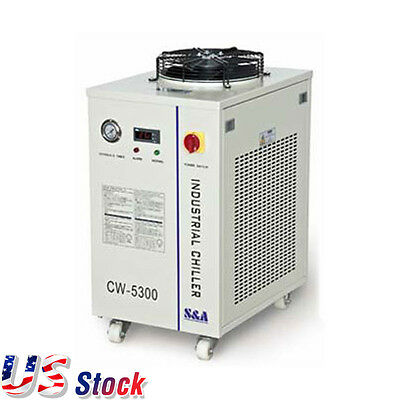 USA AC 110V 60HZ CW-5300DI Industrial Water Chiller for CO2 laser Diode Spindle