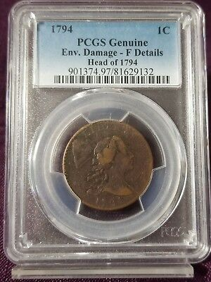 "1794 PCGS FDetails Flowing Hair ""Liberty Cap"" Large Cent #W2542KEE"