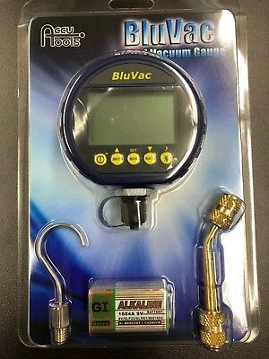 BluVac Digital Micron Gauge with Coupler, HOOK AND BATTERY-