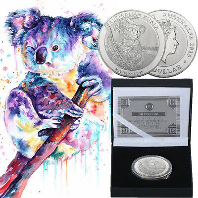 WR 2015 Australia Koala $1 Silver Coin Collection In Present Box Gifts For Him