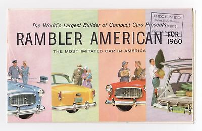 1960 AMC Rambler American Foldout Brochure Club Sedan Station Wagon
