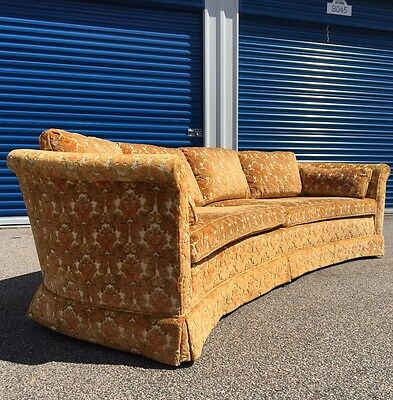 Vintage 1960s  Curved Sofa HOLLYWOOD REGENCY Dunbar Era MID CENTURY A+ Condition