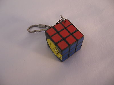 Vintage1980's Pacman Ms Pacman  ***  Puzzle Cube Keychain   ***  Ultra Rare !!!!
