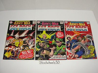 Our Army At War #163 165 166 Comic Lot DC 1966 Sgt Rock Easy Company Joe Kubert