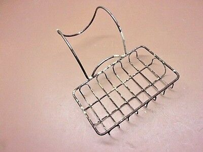 Antique Steel Wire Soap Dish Large Over the Tub Old Ivory Paint Neat OIld Look!