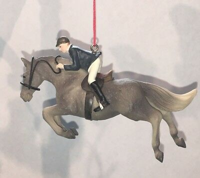 New Vintage~English Rider On Horse Ornaments~Midwest Of Cannon Fall~Nwt