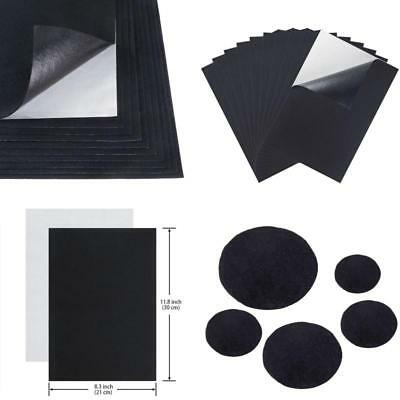 10 pieces black adhesive back felt sheets fabric sticky back sheets, 8.3 by