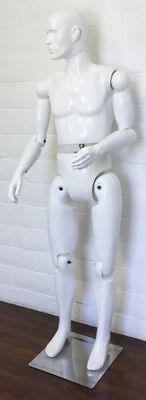 Mannequin Poses Display Flexible All White Different Posing Male Mannequins