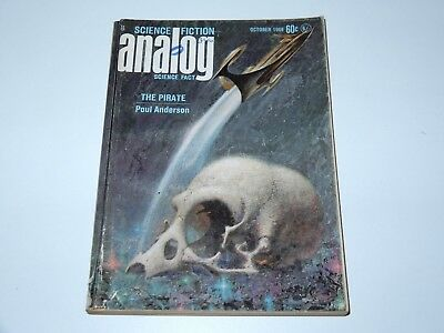 Analog Science Fiction October 1968 The Pirate Poul Anderson Sf