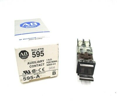 New Allen Bradley 595-A Series B Auxiliary Contact 595A