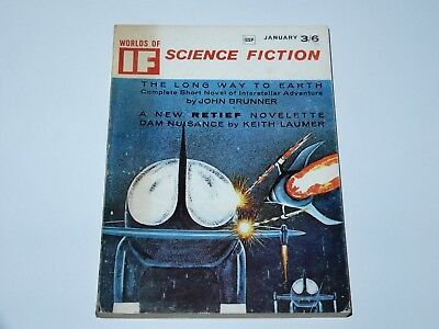 If Worlds Of Science Fiction 1966 January 3/6 Gsp Brunner Laumer Sf