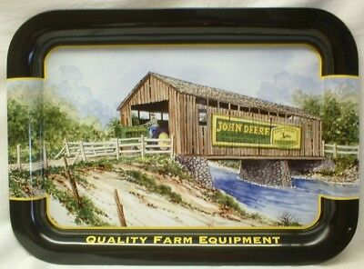 John Deere Covered Bridge Serving Tray by Jerold Bishop