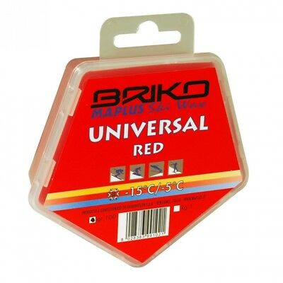 Briko-Maplus Universal Red Ski and Snowboard Wax. Delivery is Free
