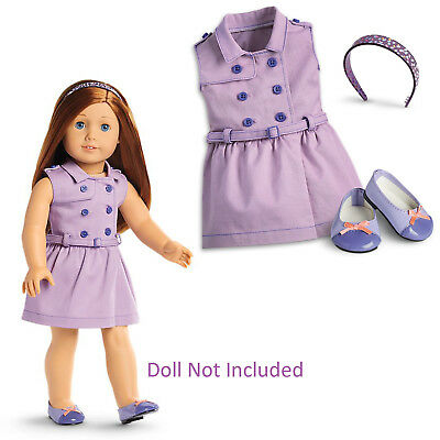 "American Girl TRULY ME TRAVEL IN STYLE DRESS for 18"" Dolls Outfit Shoes NEW"