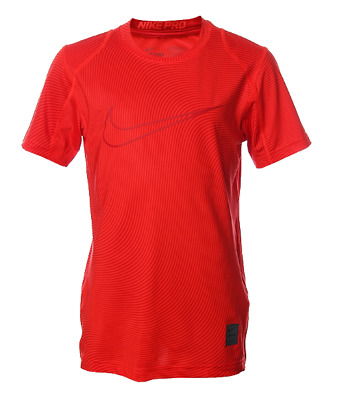 f90fd72d Brand NEW - Nike Boy's Pro Cool FItted Athletic Red T-Shirt - Choose Size