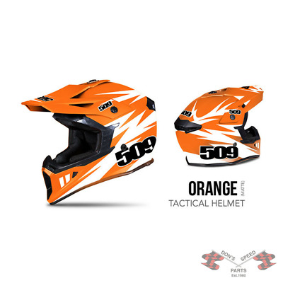 509-HEL-TOR-** 509 Tactical Snow Snowmobile Helmet - Orange - Orange & White