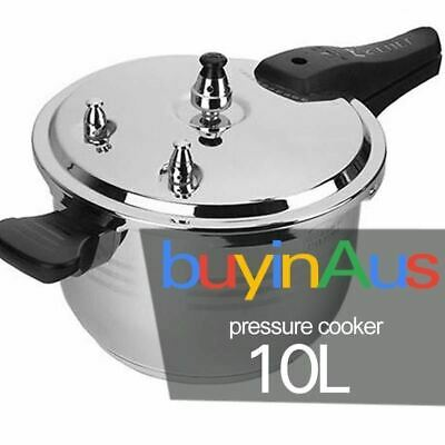 Commercial Grade Stainless Steel Pressure Cooker 10L (26cm)  1 Year Warranty