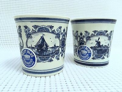 TWO NEW OLD STOCK HOLLAND VTG PORCELAIN HAND PAINTED SMALL CIDER CUPs SIGNED
