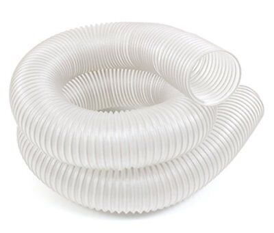 Universal Dust Extractor Hose Anti-Static Clear Flexible Woodworking 4 In 10 Ft