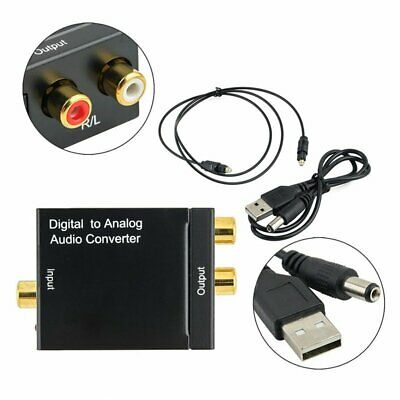 3.5mm Optical Coaxial Signal Digital to Analog Audio Converter Adapter RCA L/R