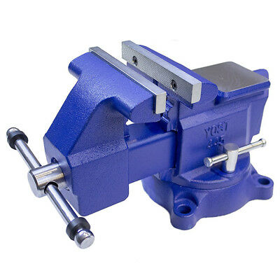 8in Jaw Pipe Bench Vise Swivel Base Iron Body Table Top Clamp Anvil Metal Shop