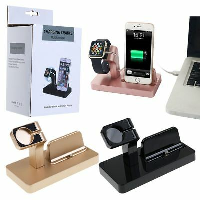 Charging Dock Stand Station Bracket Charger Holder fr Apple Watch iWatch iPhone