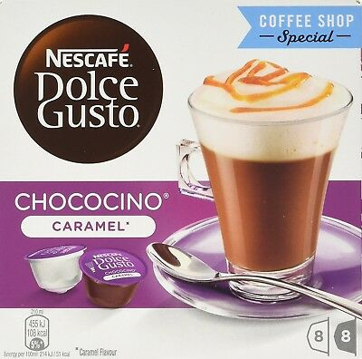 NESCAFÉ Dolce Gusto Chococino Caramel, Pack of 3 (Total 48 Capsules, 24