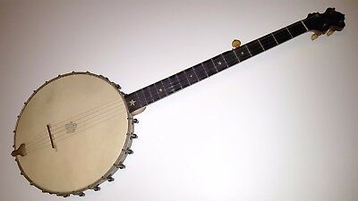 JB SCHALL BANJO VINTAGE 1880's CHICAGO COMPLETE ORIGINAL ANTIQUE