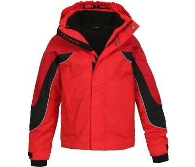 (11 years, Red - Chinese Red [104]) - Bergson Dobby Children's 3-in-1 Jacket