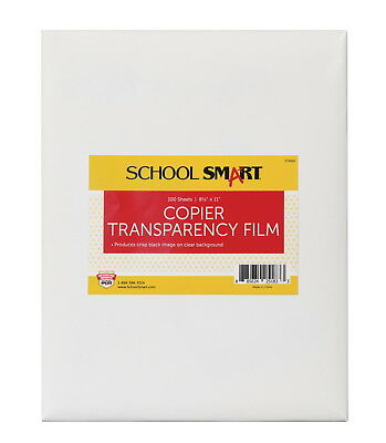 School Smart 8-1/2 x 11 in Copier Film Without Sensing Strip, Pack of 100,