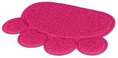 Pink Paw Shape PVC Non Slip Litter Tray Mat for Removing Cat Litter from Paws