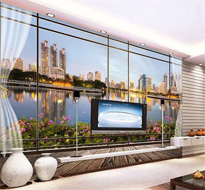 Modern Concise Glass 3D Full Wall Mural Photo Wallpaper Printing Home Kids Decor
