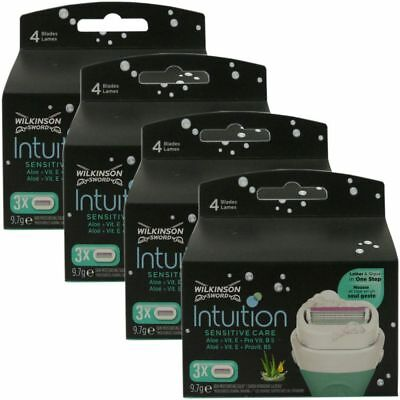12 Wilkinson Sword Intuition Sensitive Care Rasierklingen Aloe+ProVitamin B5 OVP