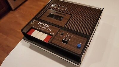 Vintage Tiffen Playback 711 Cassette Player for Projector Slide Show Audio