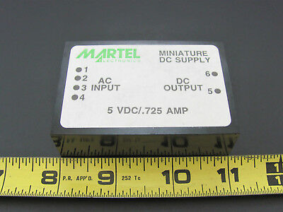 5V .725A - PC Mount Power Supply - Martel 05.725PM-3 *NOS*