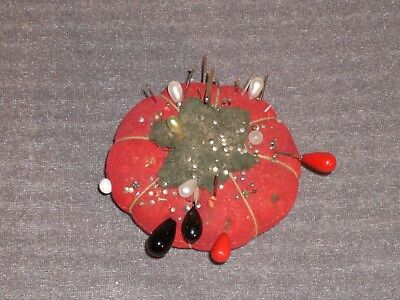 Vintage Tomato Style Pin Cushion. An original 1950s with a track record