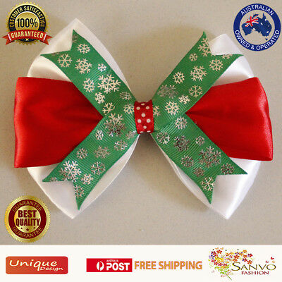 Hair Clip Women Girls Christmas Bow Gift Accessories Xmas Hairpin Barrette