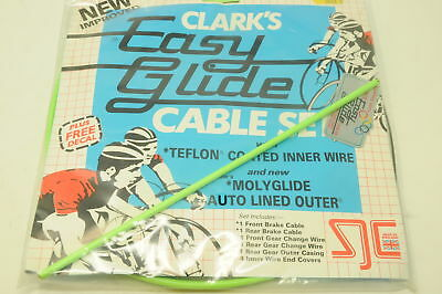 "GREEN CLARKS 60's 70's,80's RACING BIKE ""EASY GLIDE FULL CABLE SET TEFLON COATED"