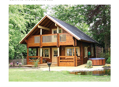 Cabin kit 1,442 ft 2 Story 3 Bed Wooden Guest House/home. Custom Built