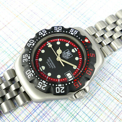 TAG Heuer Midsize Formula 1 WA1214 Black Dial, New Bezel Ratchet Glass & Battery