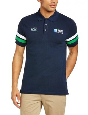 (Small, Navy) - Canterbury Men's Rugby World Cup Half Back Polo. Huge Saving