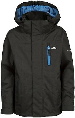 (Size 5/6, Black) - Trespass Children's Galleys Jacket. Delivery is Free