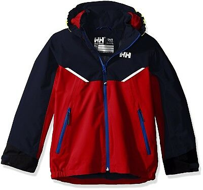 (Size 1, Flag Red) - Helly Hansen Children's K Shelter Jacket. Free Shipping