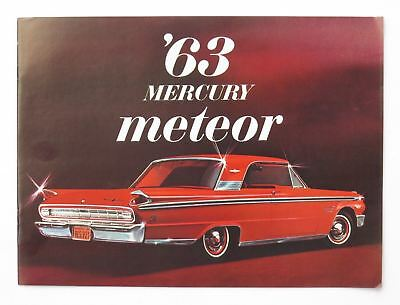 1963 Mercury Meteor Series Full Line Brochure Custom S-33