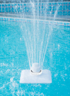 Ocean Blue LED Lighted 3 Tier Fountain For Aboveground Inground Swimming Pool
