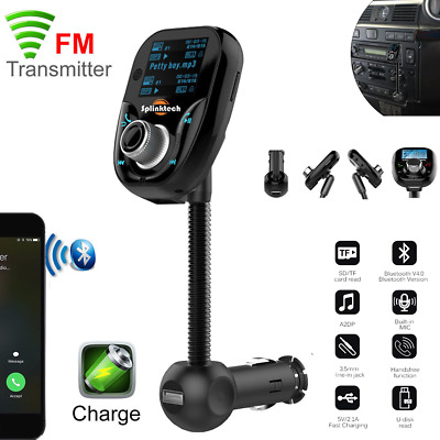 Bluetooth FM Transmitter Wireless MP3 Player Dual USB Car Charger Kit