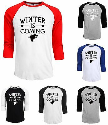 2017 NEW!! T Shirt Man Clothing Game of Thrones Winter Is Coming House of Stark