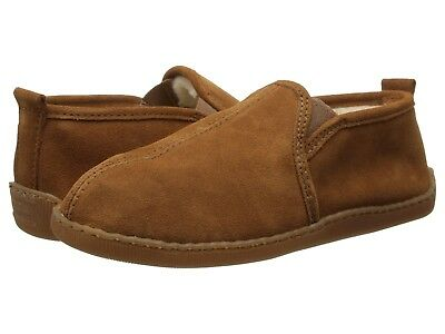 Minnetonka Men's Romeo Suede Pile Lined Slippers Brown Sizes 8 9 10 11 12 13